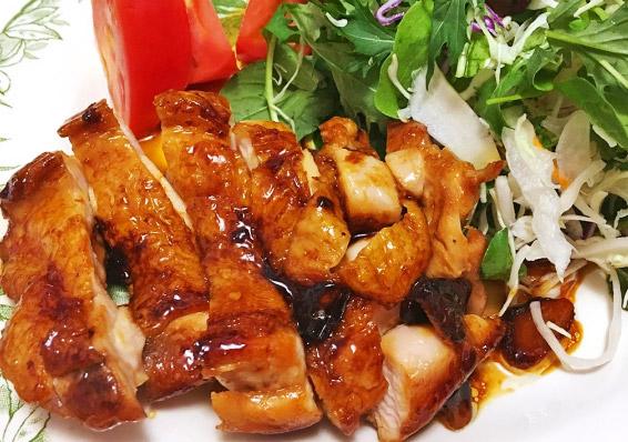 鶏肉の甘酢照り焼き