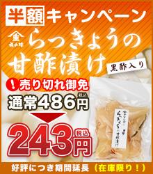 【半額キャンペーン】らっきょうの甘酢漬け(黒酢入り)90g